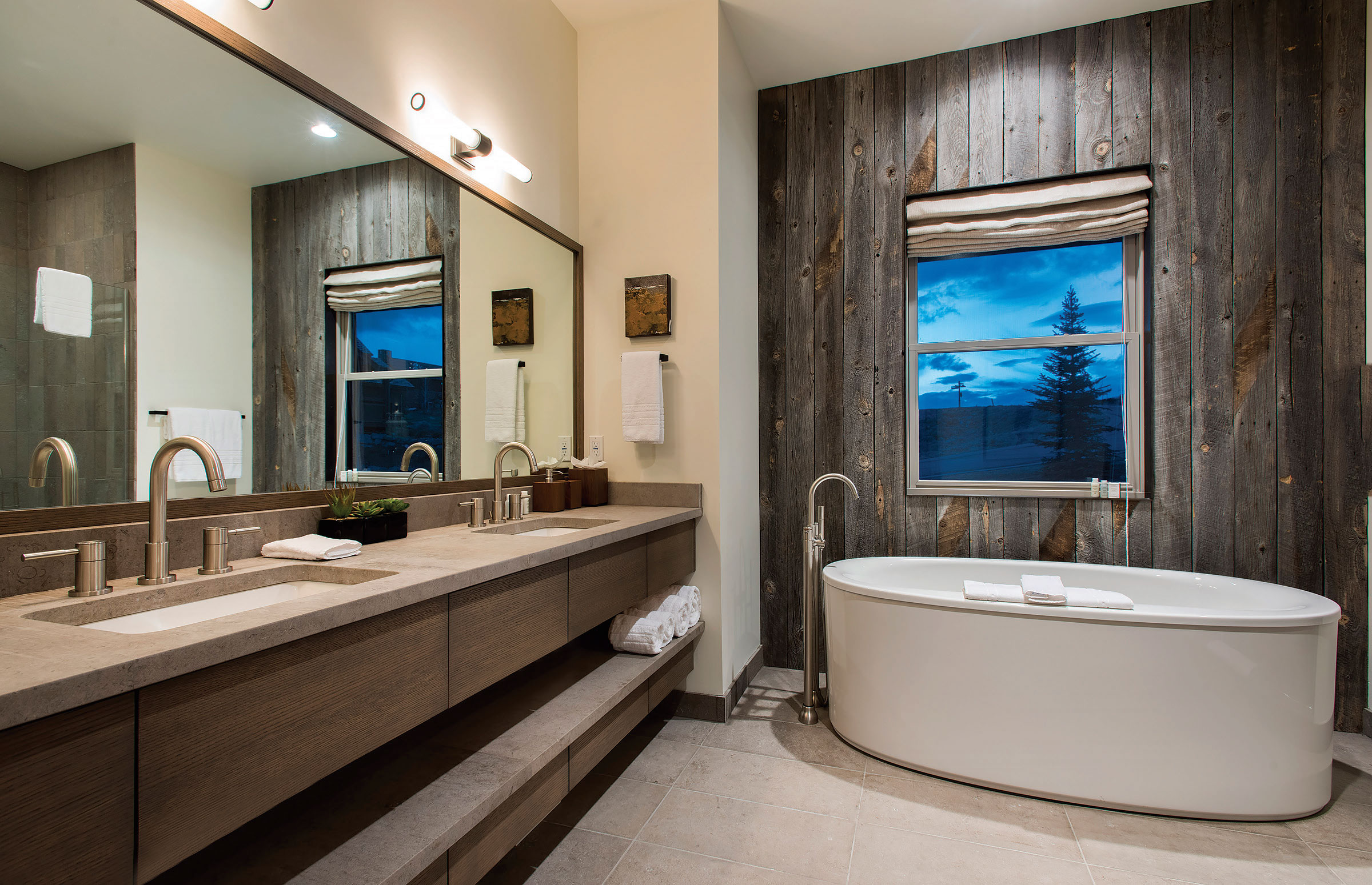 The loo western home journal luxury mountain home resource for Ranch bathroom design