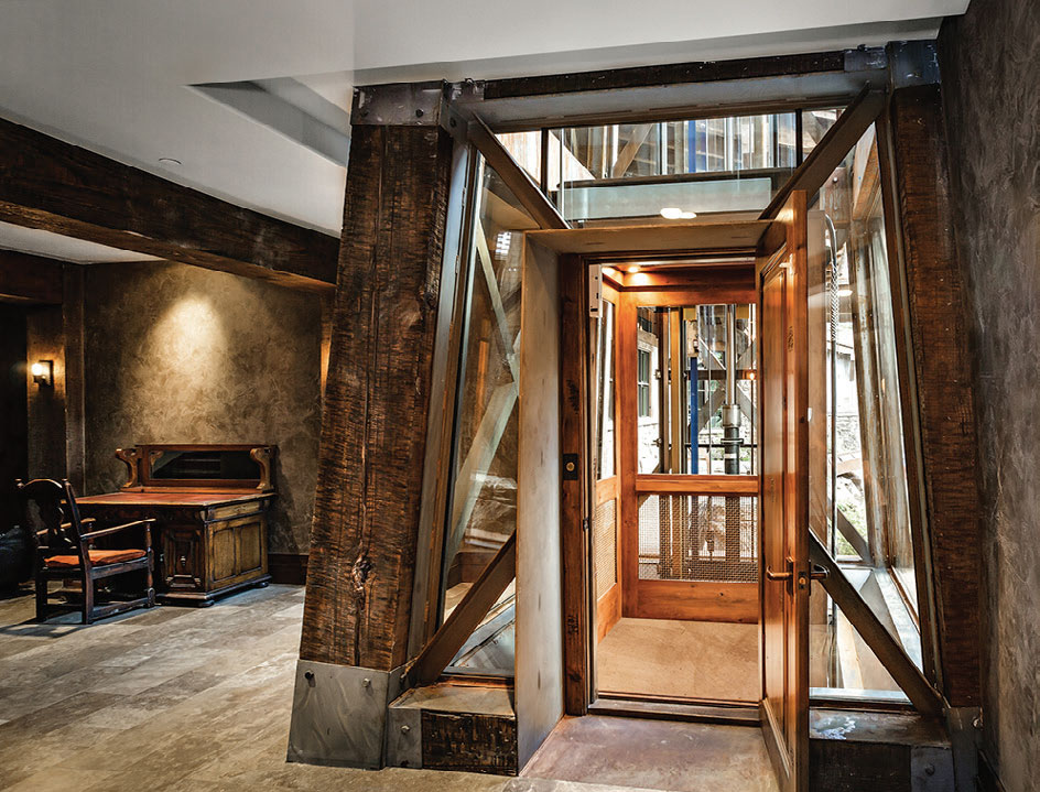 Flathead valley rising above western home journal for Custom home elevator