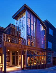 30 King Street is a mixed commercial/residential condominium building in downtown Jackson. Architect Danny Williams utilized multiple applications and finishes to achieve this study in steel. PHOTOS Courtesy of Atelier One Ltd.