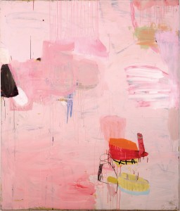 "Big Pink by Gary Komarin, 84"" x 66"". Mixed media on canvas at Gail Severn Gallery"