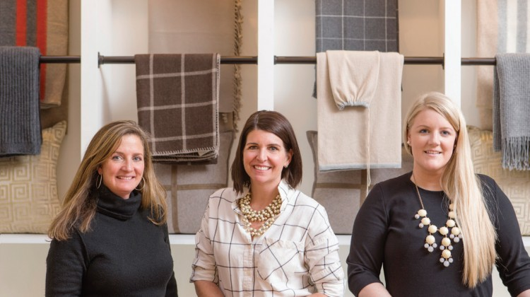 Interior Design Team Heidi Stearns, Anne Mulick, and Erika Blank (pictured left to right).