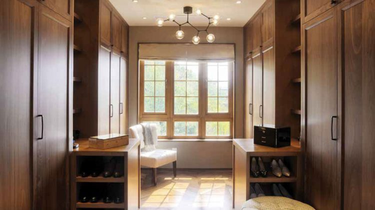 People are personalizing their closets with LED lighting, cantilevered drawers, tops in leather and wood, and finish options for sliding doors such as wood, lacquers, hide, or glass