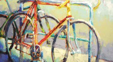 Bike at Rest by Caleb Meyer, 36 x 36 at Terzien Gallery