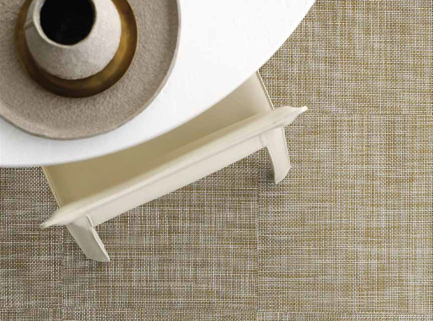 Summit Source's Chilewich basketweave rug in harvest is a functional and beautiful choice.