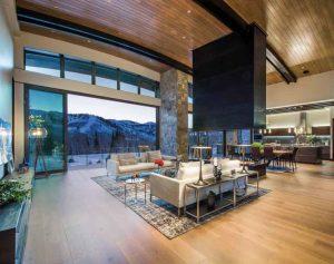 Topmark Flooring's wide-plank wood flooring in Villa Caprisi creates a soft, welcoming look.