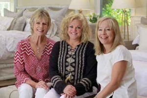 The Picket Fence sales team includes (left to right) Jeanne Thompson, Leslie Speck, Renee Phillips, and Barb Gerrish (not pictured).