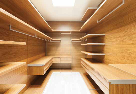 With soft-closing mechanisms, ample space, and good lighting, this closet is move-in ready.