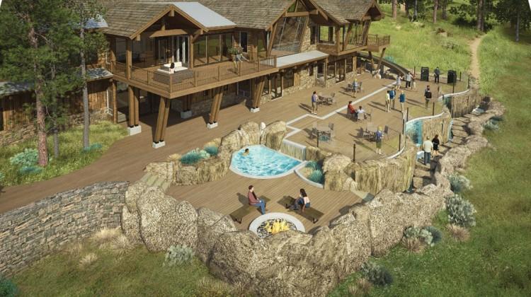 Model form of a wooden resort