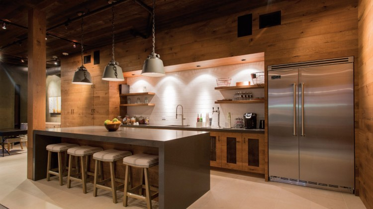 Industrial ranch kitchen