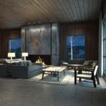 Industrial ranch living room