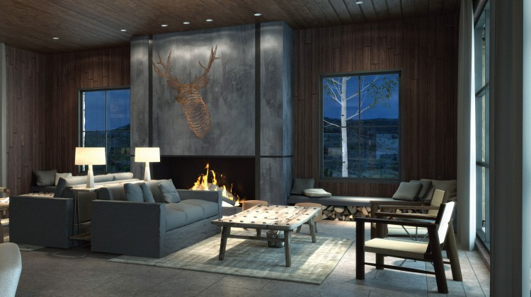 Industrial ranch living room