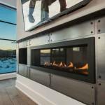 A centerpiece fireplace in steel by Go West Development. PHOTO Courtesy of Go West Development