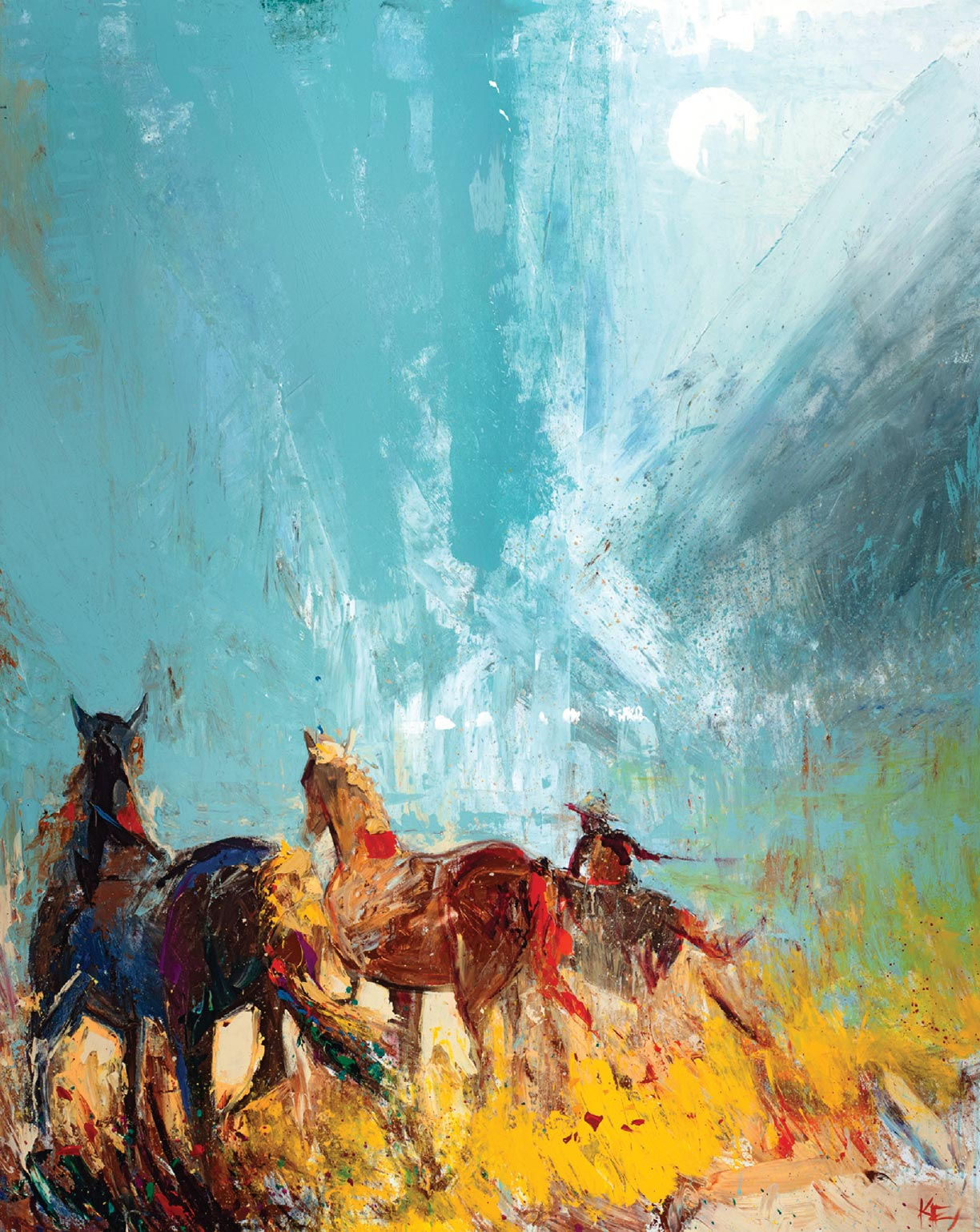 Art customized for the Home and Soul- Bozeman-Big Sky Riders