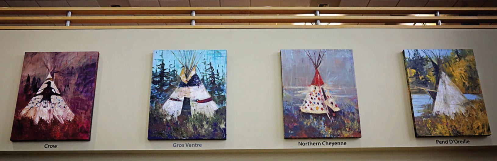 Art customized for the Home and Soul- Bozeman-Big Sky Twelve Tipis