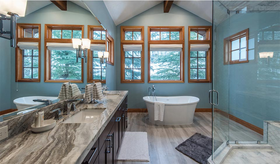 A Closer look at All Seasons Resort Lodging- Park City Bathroom