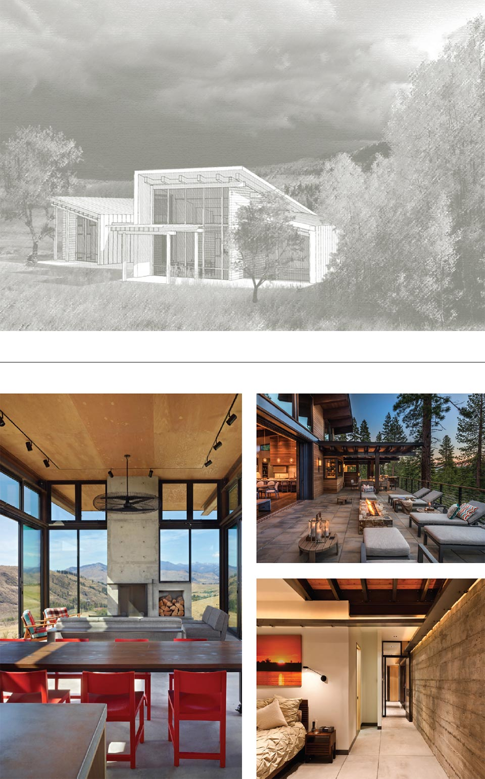 Benloch Ranch- Park City House Drawing and Interior