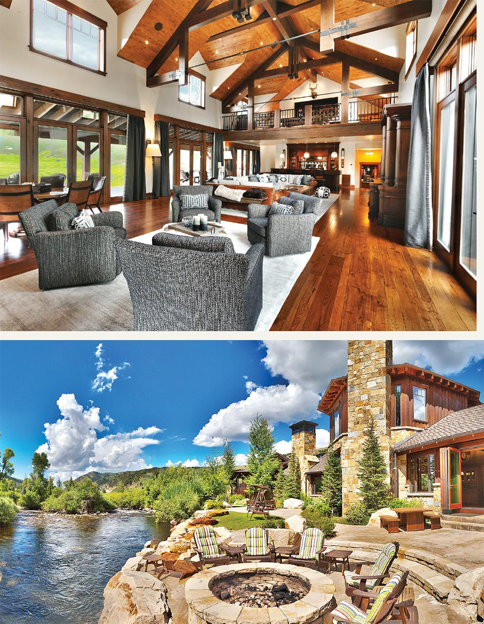 Luxury Listings in the Place We Call Home- Park City Interior and Fire Pit