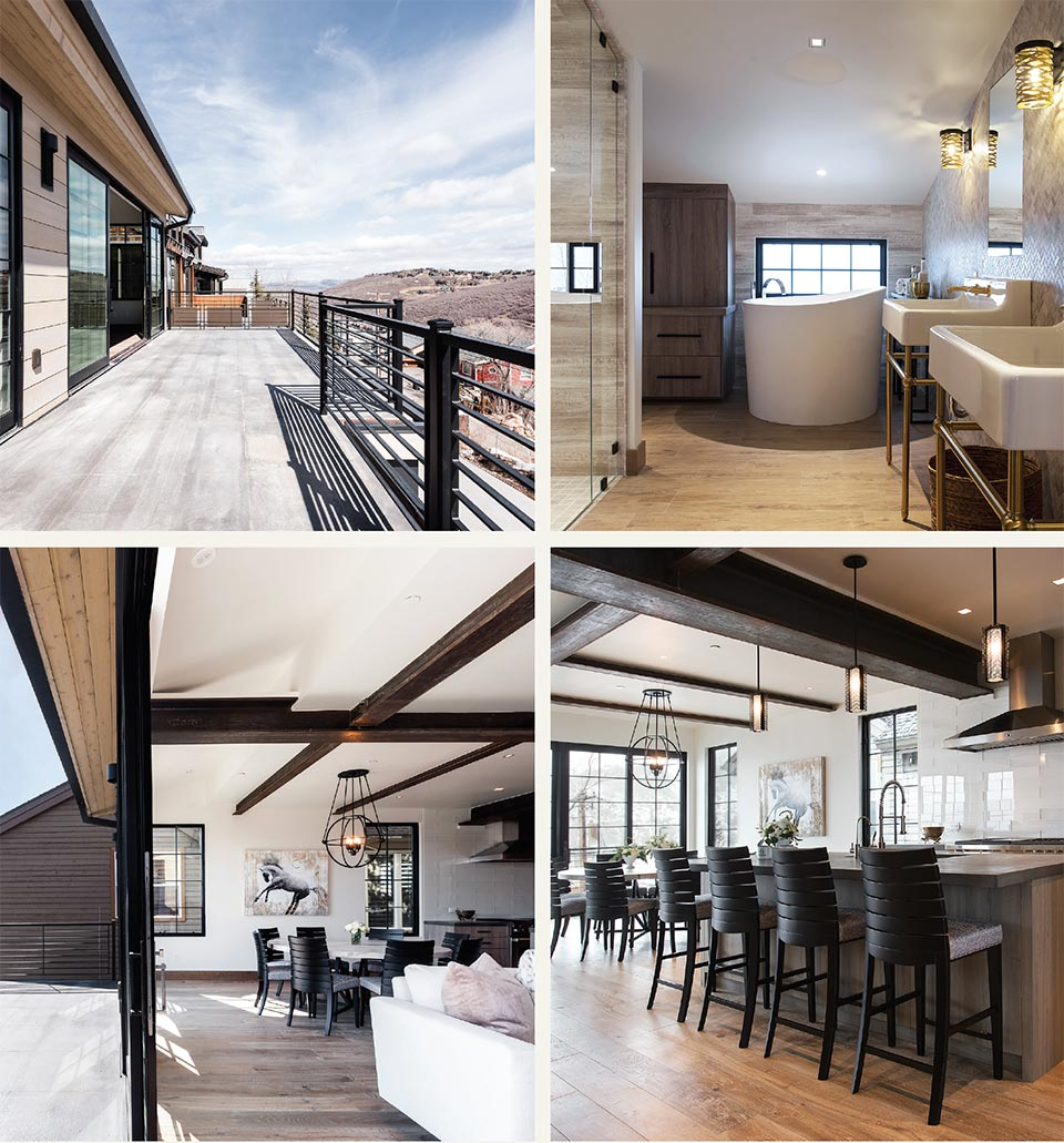 Luxury Listings in the Place We Call Home- Pack City Slopeside Deck and Interior
