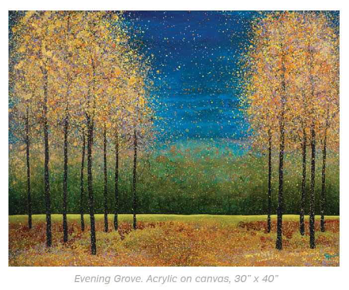 Art In Sun Valley- Sun Valley Evening Grove