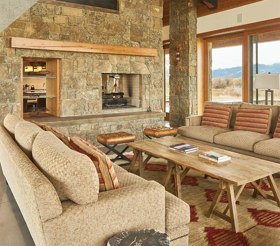 The Millennium Marks Rapid Advances in  Homebuilding Practices- Jackson Hole Living Room