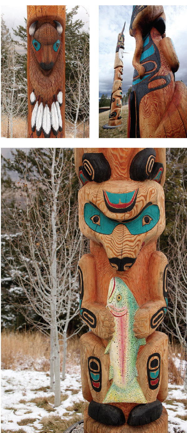 A Look At Fine Art- Sun Valley Totem Poles 2