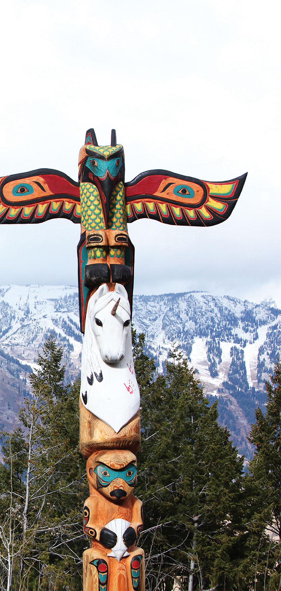 Art in the Big Sky- Bozeman-Big Sky Totem and Mountain