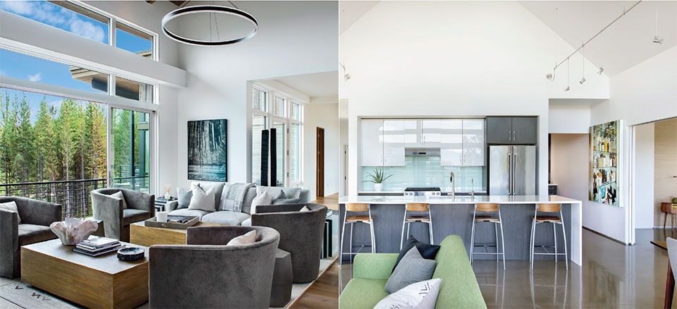 The Millennium- Bozeman-Big Sky Kitchen and Living Room