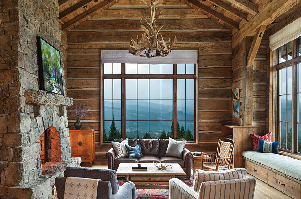 Interior Design Round Table- Bozeman-Big Sky Living Room and View
