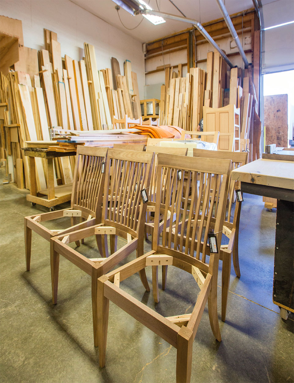 Working with Wood in the Modern West- Bozeman-Big Sky Chairs
