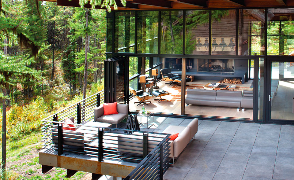What are You Doing Outside?- Flathead Valley Living Room and Deck
