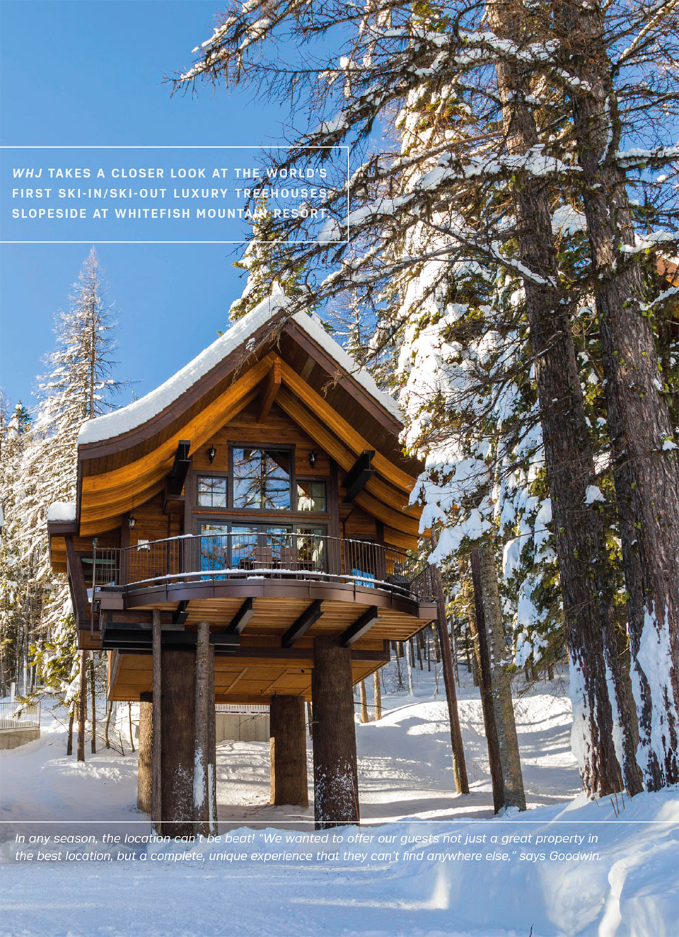 Snow Bear Chalets- Flathead Valley Treehouse