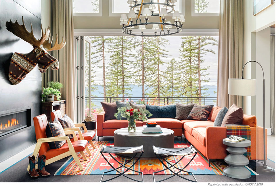 Snow Bear Chalets- Flathead Valley Living Room