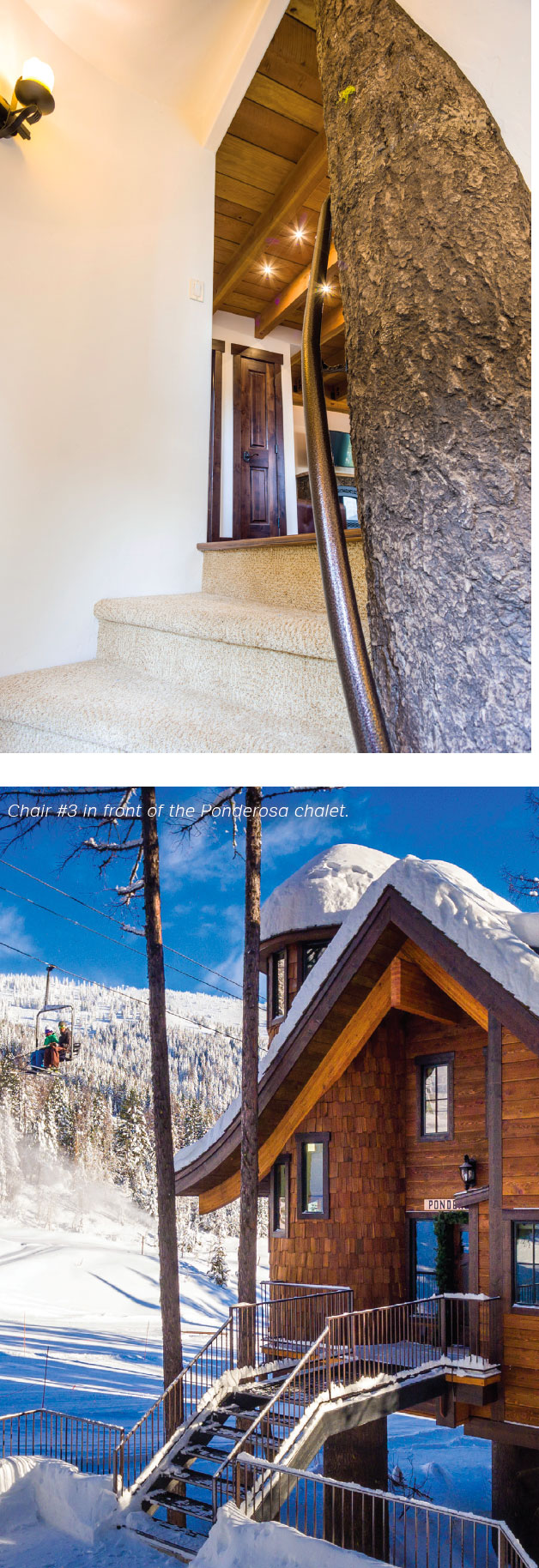 Snow Bear Chalets- Flathead Valley Stairs