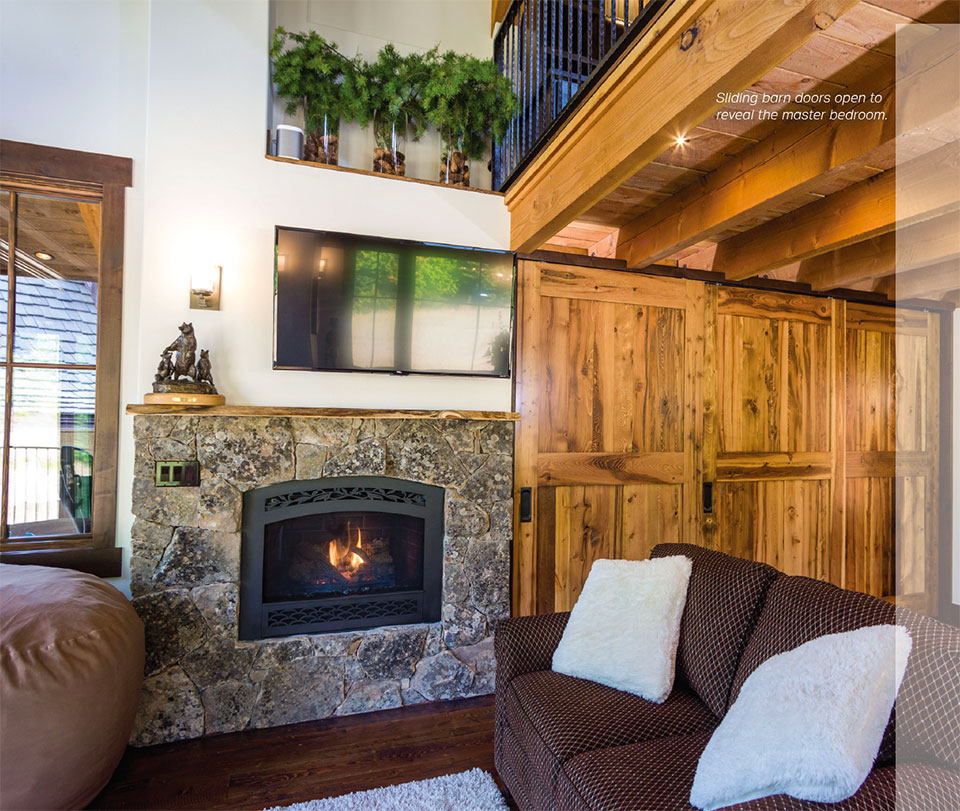 Snow Bear Chalets- Flathead Valley Fireplace