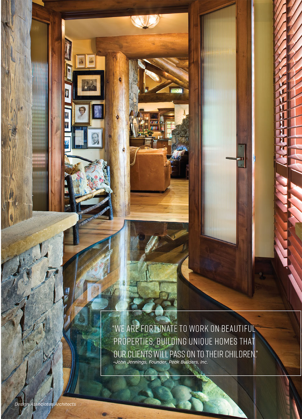 Delivering the Dream with Peak Builders Inc- Jackson Hole Hallway