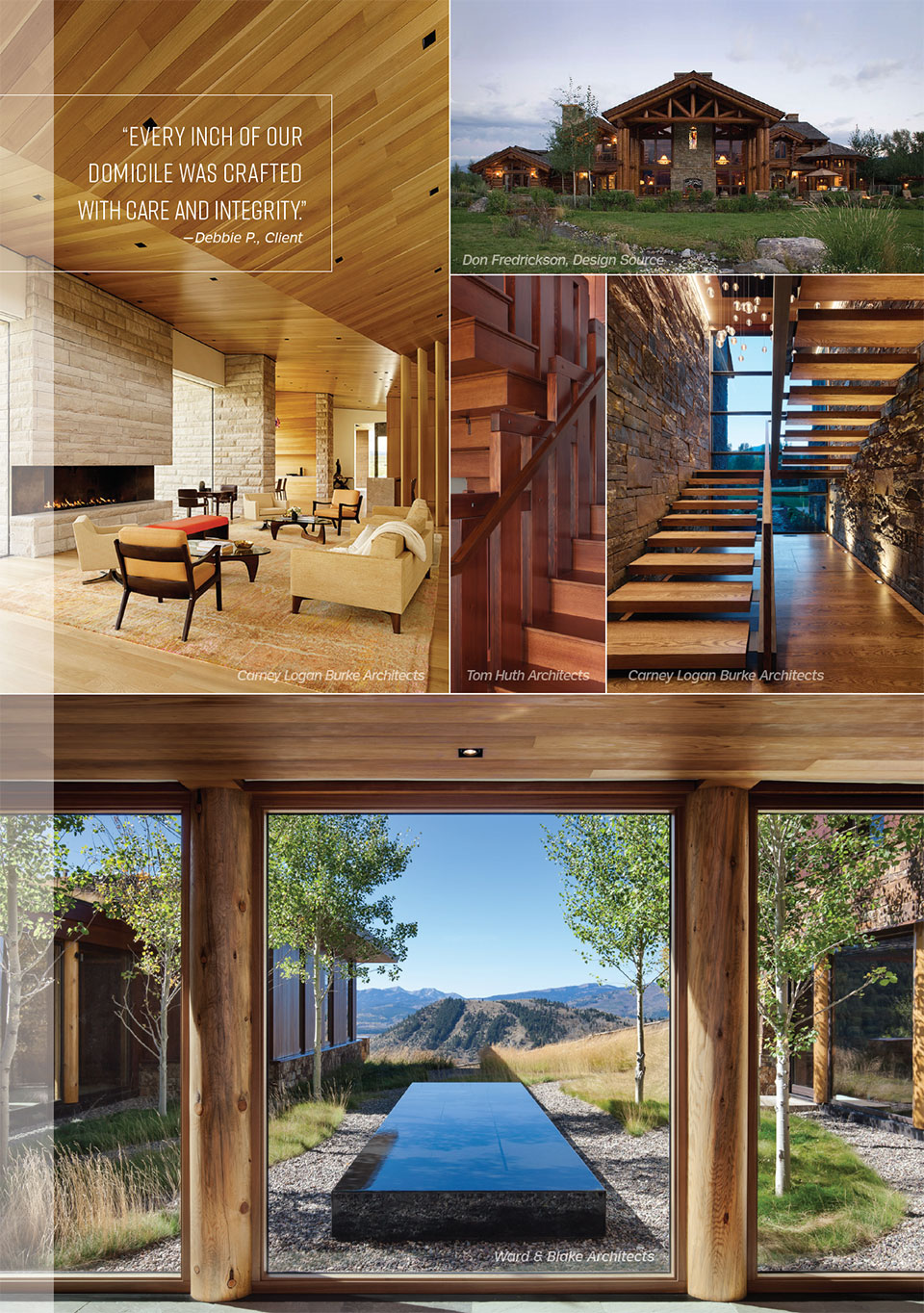 Delivering the Dream with Peak Builders Inc- Jackson Hole Stairs, View and Backyard