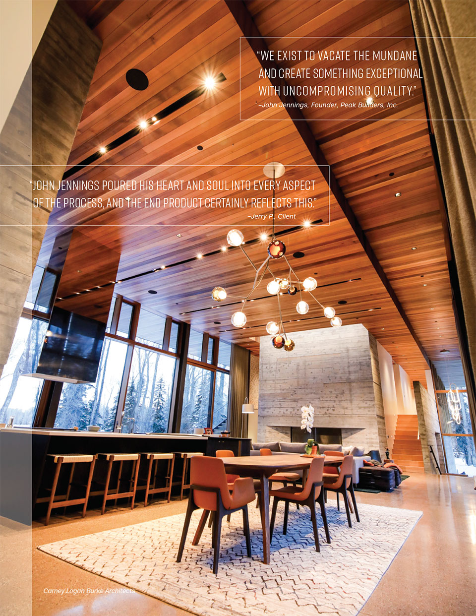Delivering the Dream with Peak Builders Inc- Jackson Hole Kitchen
