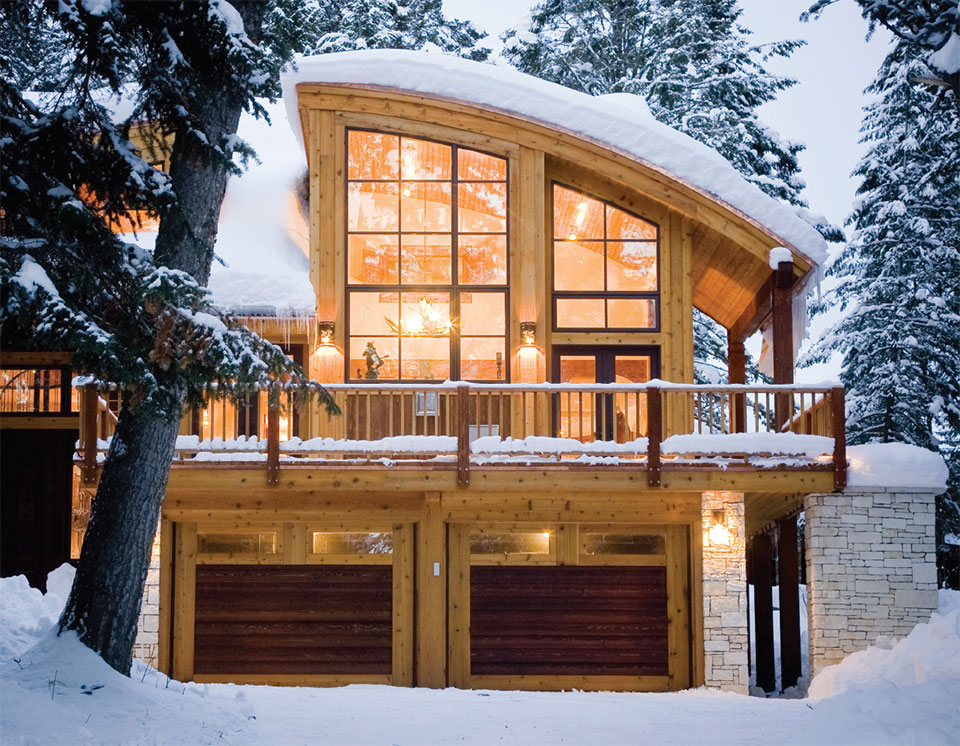 Designing For Comfort- Jackson Hole Garage Exterior