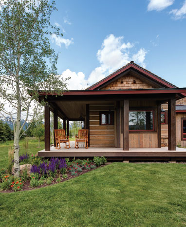 Designing For Comfort- Jackson Hole Porch and Yard