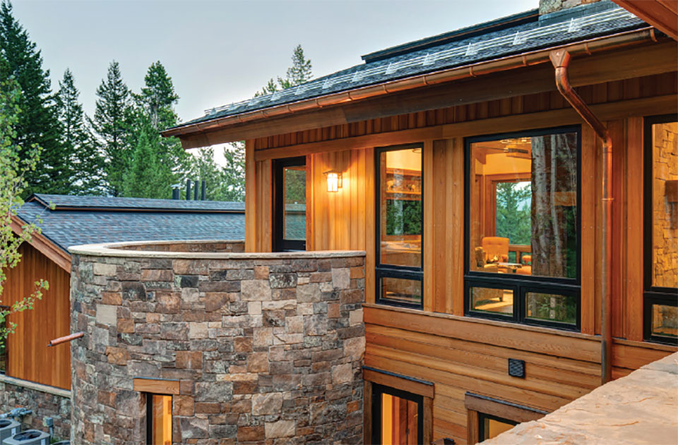Designing For Comfort- Jackson Hole Rock Porch