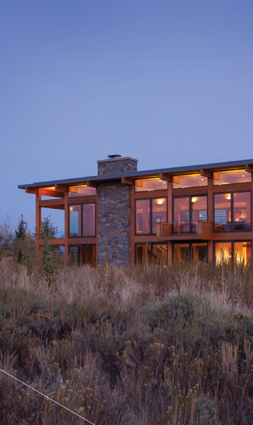 Designing For Comfort- Jackson Hole Night Lighting