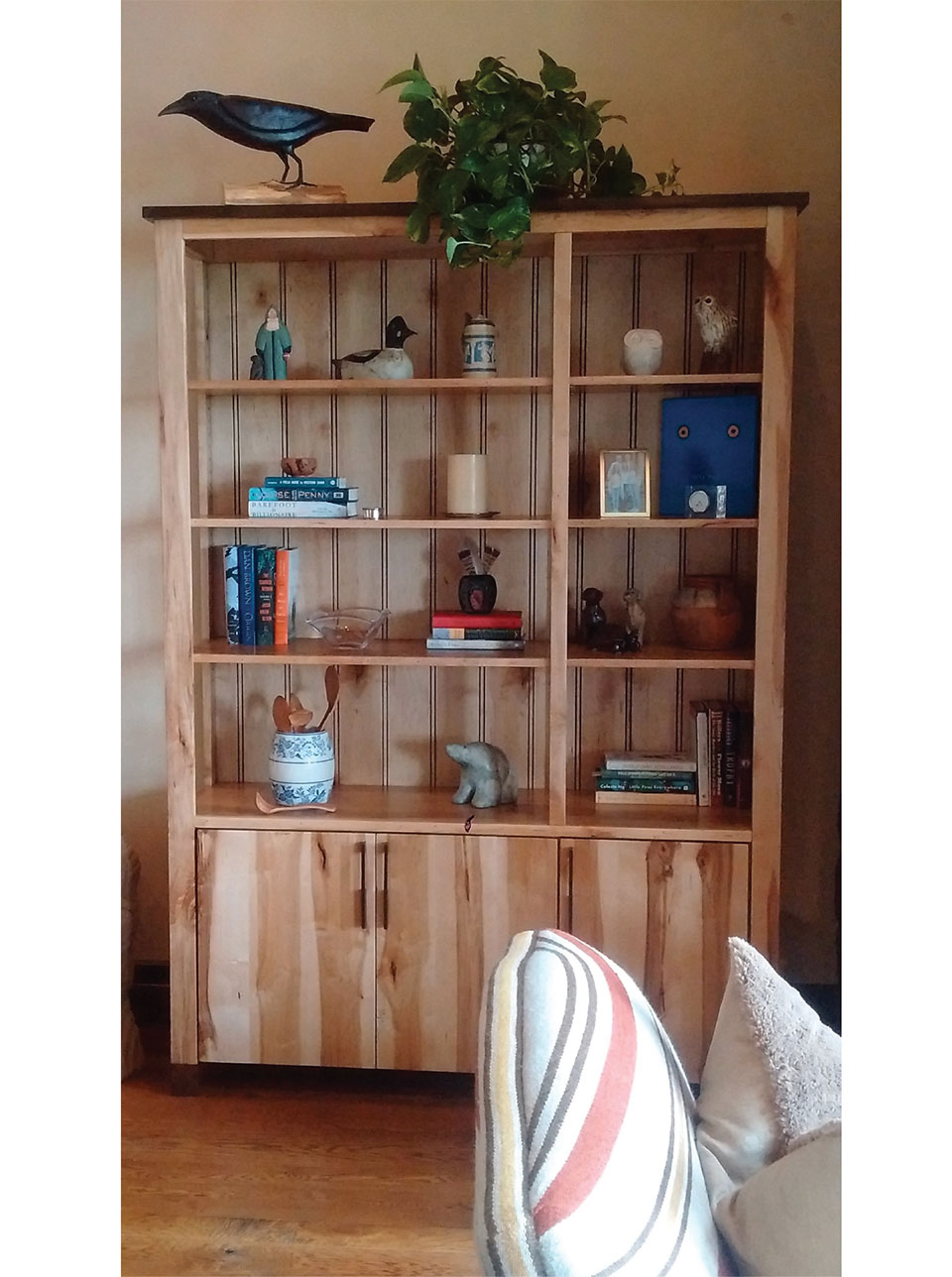 Working with Wood in the Modern West- Jackson Hole Bookshelf