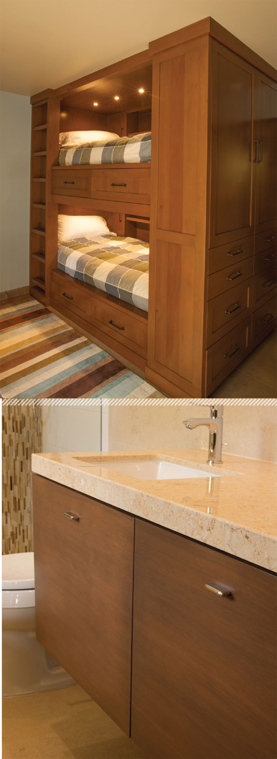 Working with Wood in the Modern West- Sun Valley Bunk Beds and Sink