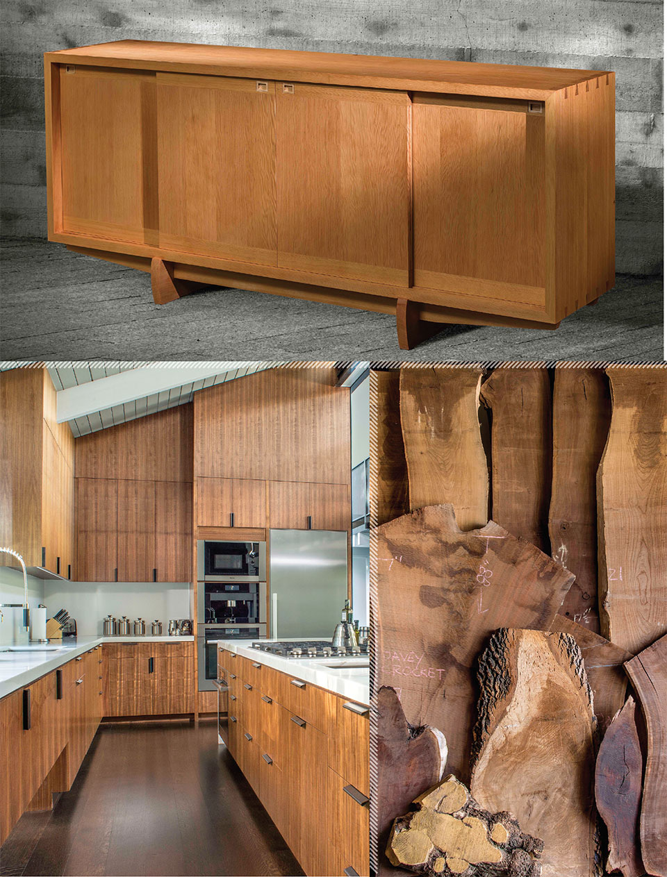 Working with Wood in the Modern West- Sun Valley Wood Cabinet and Kitchen