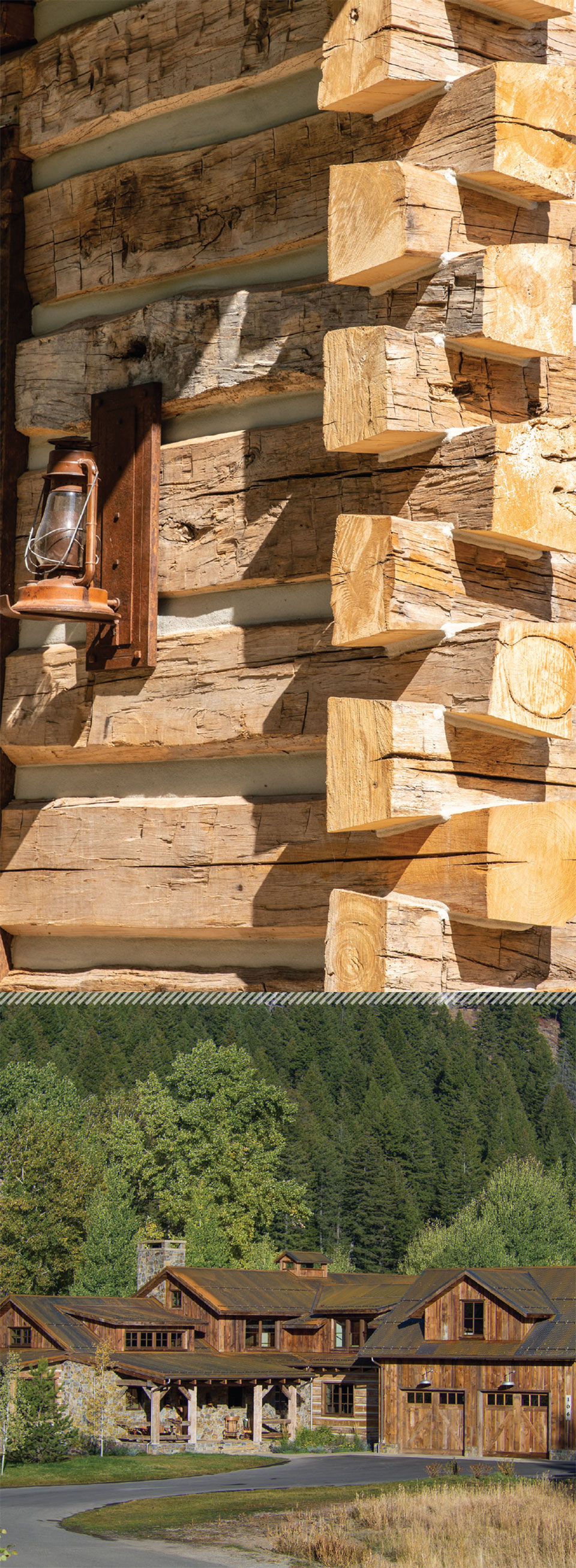 Working with Wood in the Modern West- Sun Valley Log House