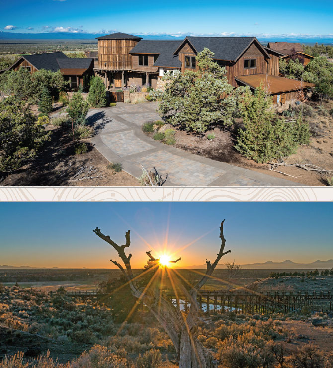 Living Your Dream- Bend House Exterior and Sunset