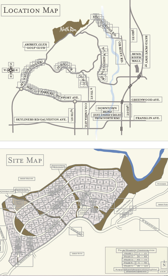 Living Your Dream- Bend Site Maps