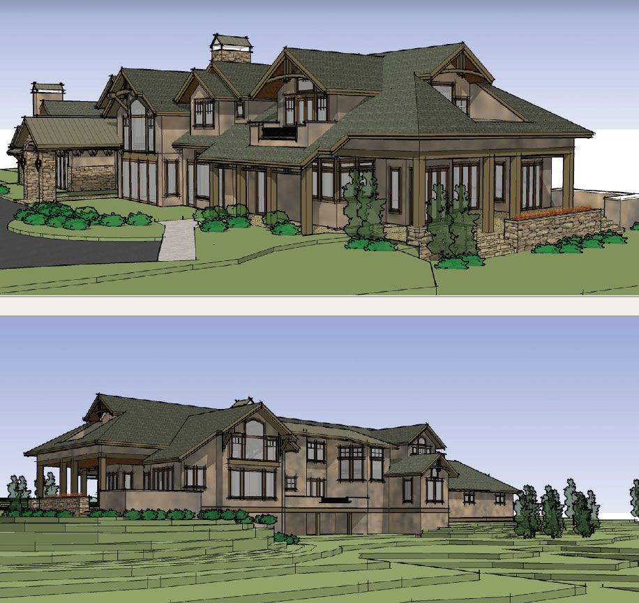Living Your Dream- Bend House Drawings