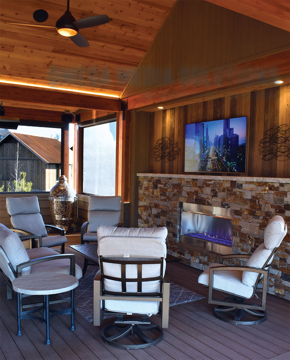 Your Other Room is Waiting Outside- Bend Fire Pit and TV
