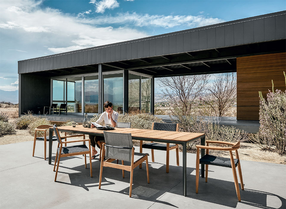 Your Other Room is Waiting Outside- Bend Outdoor Table